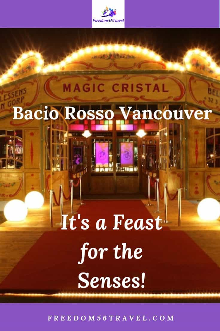 Bacio Rosso is one of the great things to do in Vancouver! Great food and nightlife in the middle of the city!
