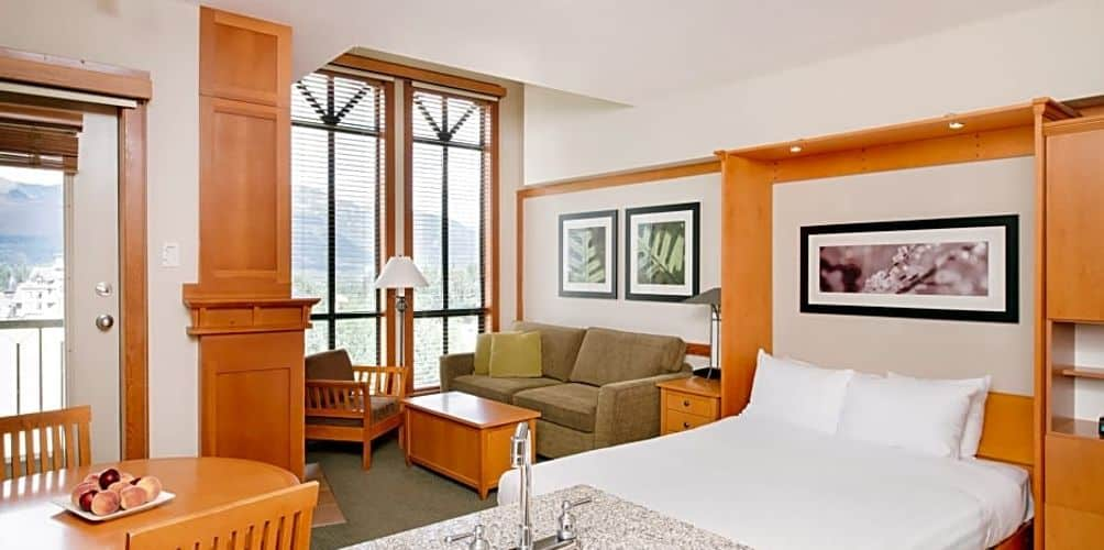Interior view of room at the Pan Pacific Mountainside