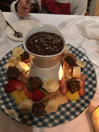 Chocolate Fondue at Wildflower in Whistler