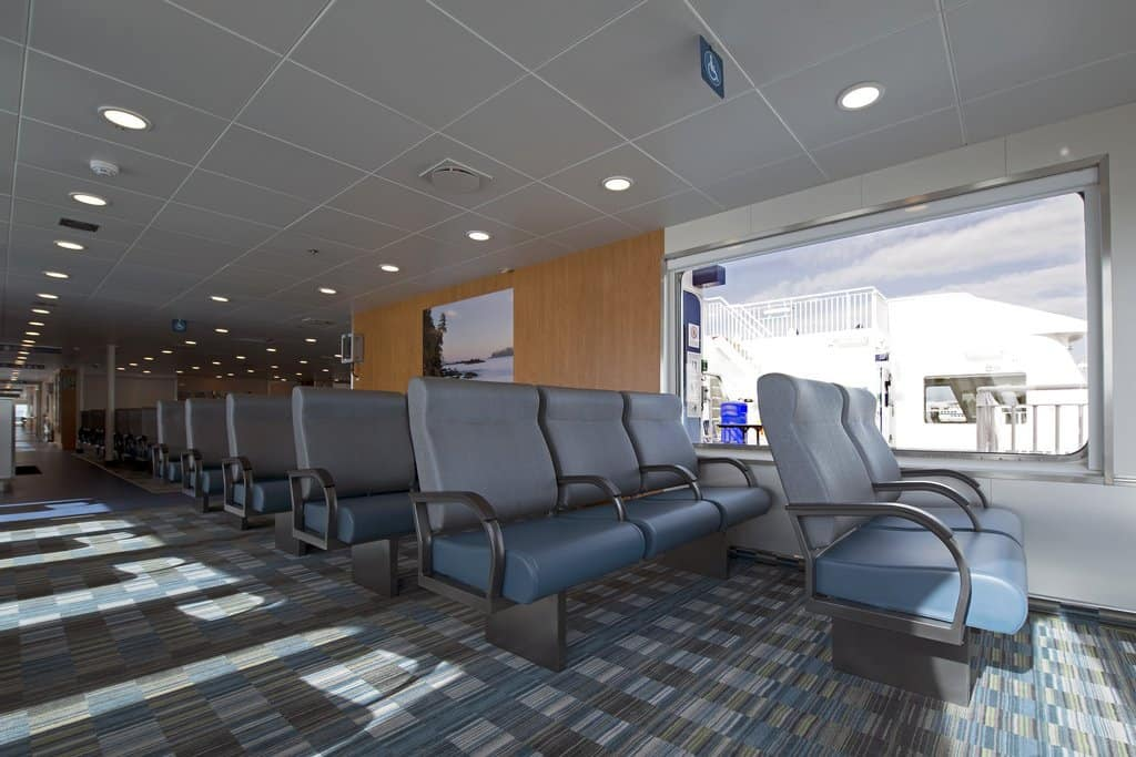 BC Ferries Vancouver to Victoria passenger seating area