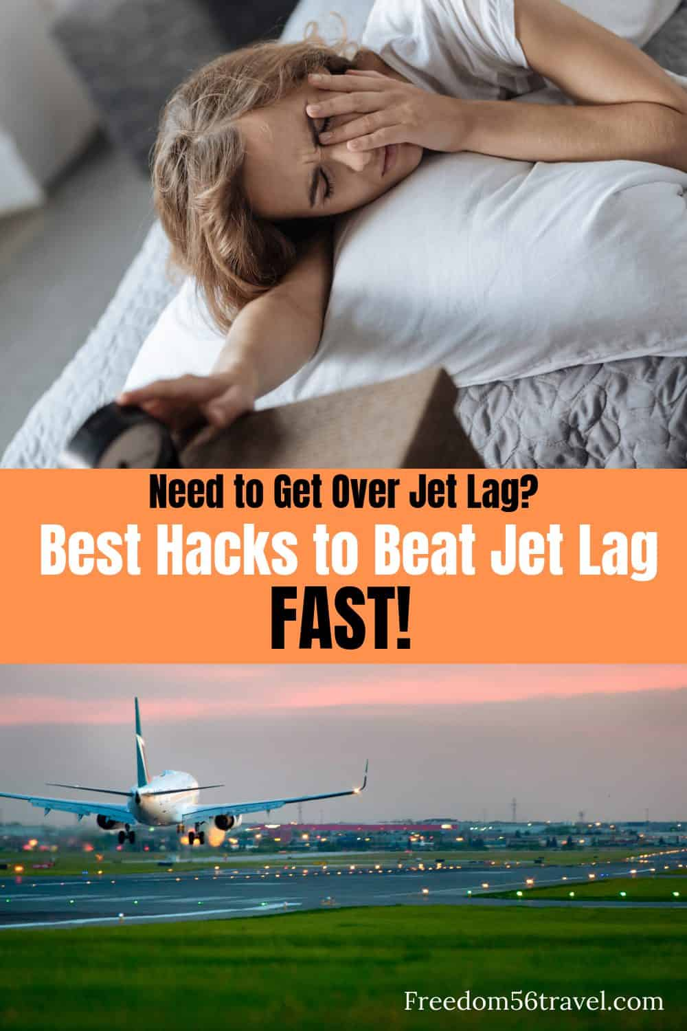 Pinterest image for how to beat jet lag