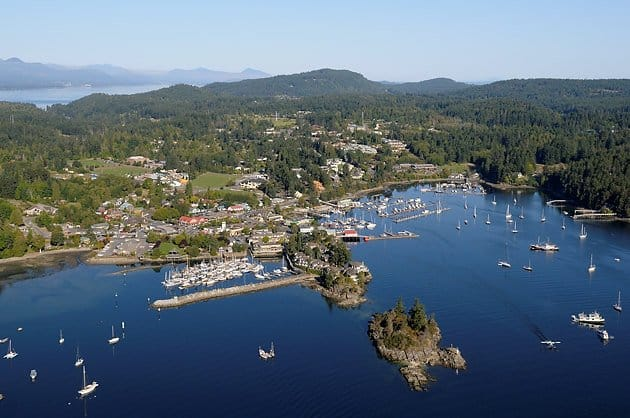 View Of Salt Spring Island Harbour