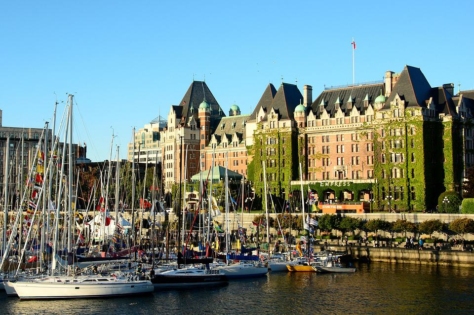 Victoria's beautiful inner harbour, featuring the Fairmont Empress hotel