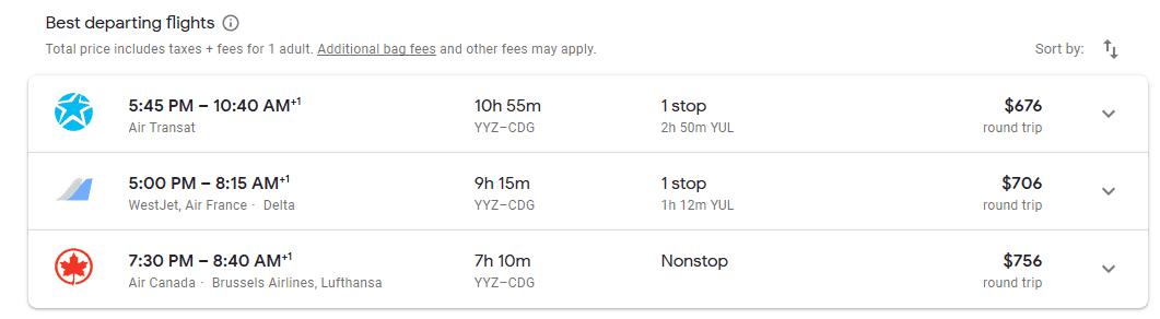 Low Cost Airfares to Paris