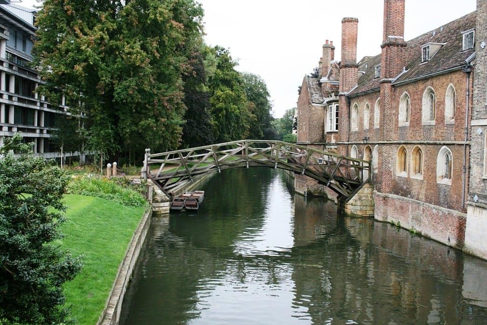 Mathematical Bridge in Cambridge, England - A great place for home exchanging