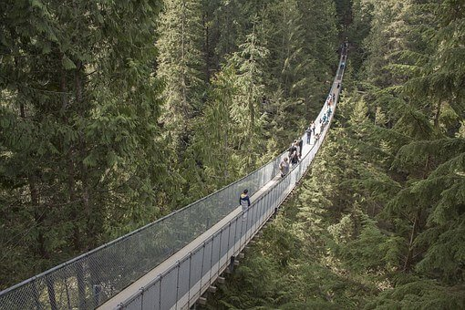 Capilano Suspension Bridge Park at the start of the road to Whistler