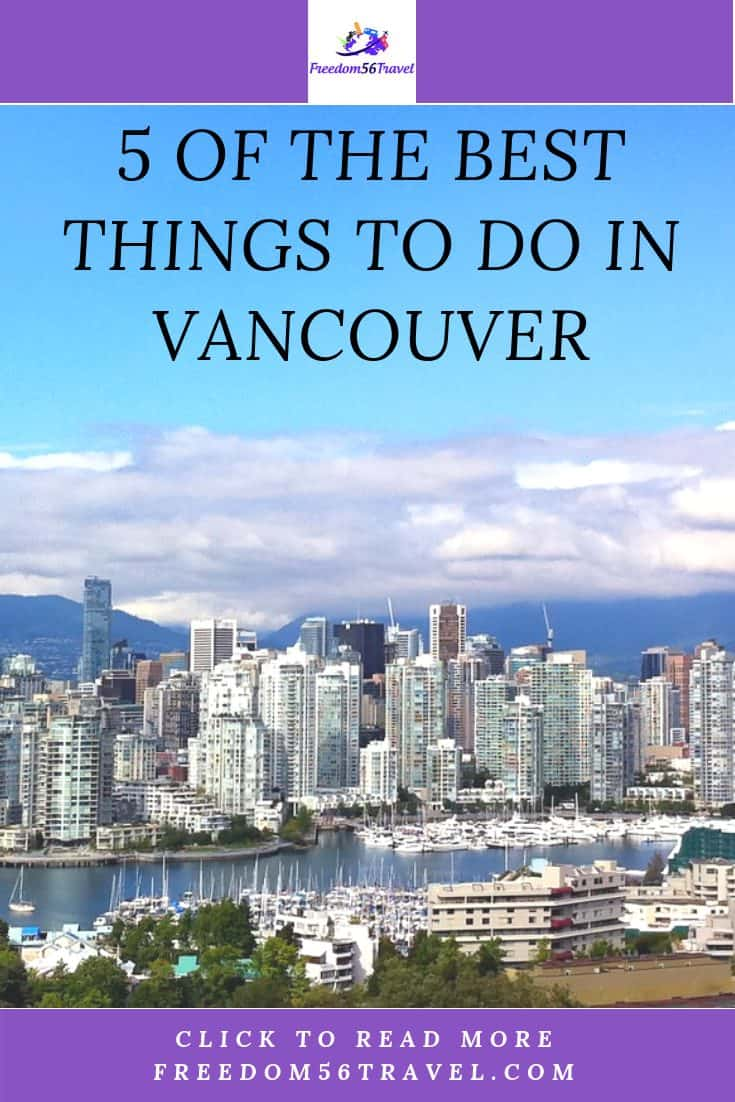 Pinterest image of beautiful downtown Vancouver