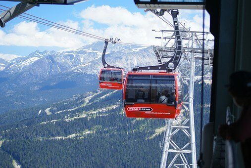One of the great Sea to Sky Highway attractions, the Peak 2 Peak Gondola in Whistler