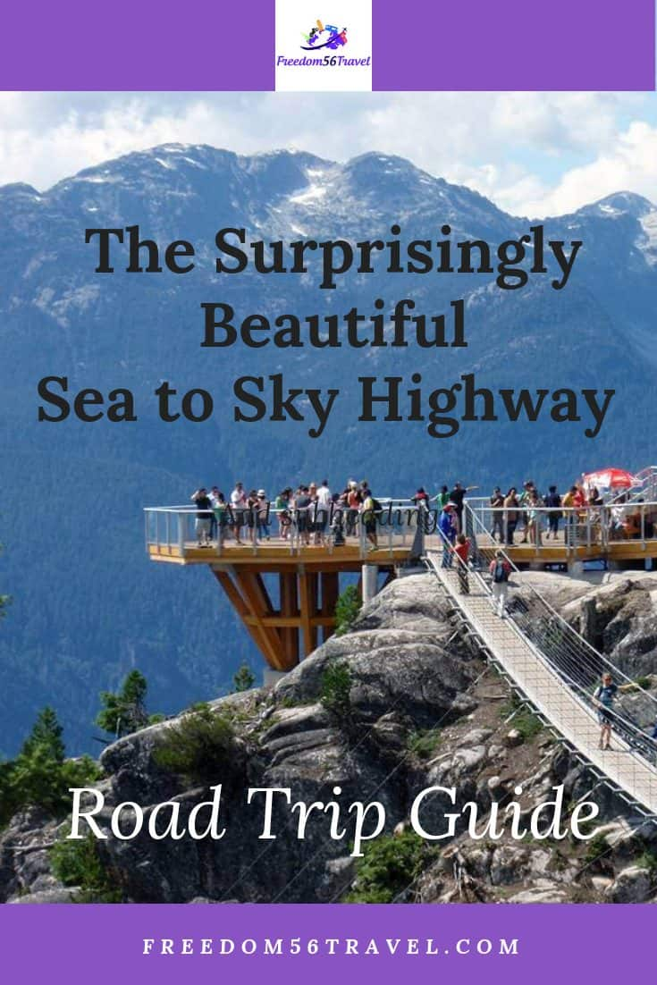 Pinterest image of Squamish Sea to Sky Gondola patio