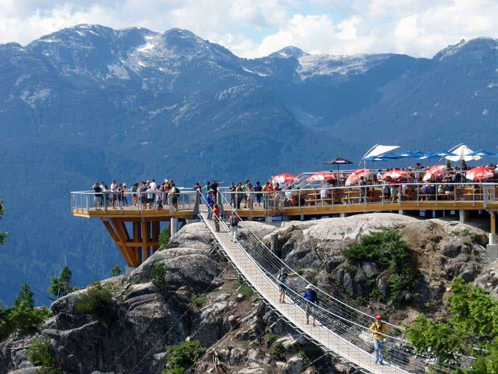 Patio at the top of the Squamish Sea to Sky Gondola