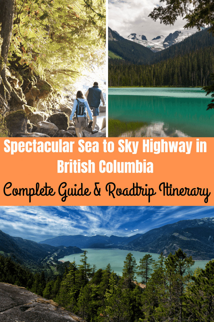 Pinterest image for Sea to Sky Highway roadtrip guide