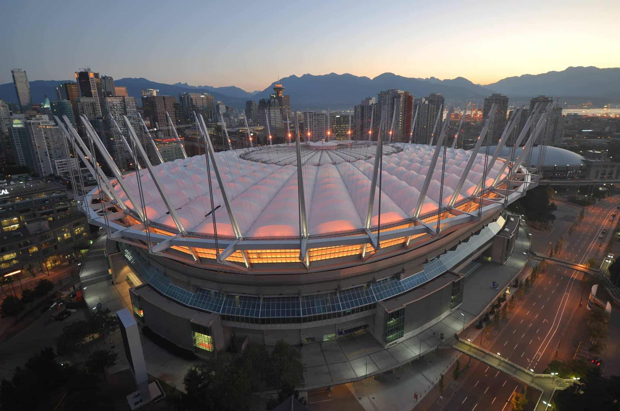 BC Place Stadium in Coal Harbour, a great place to stay in Vancouver