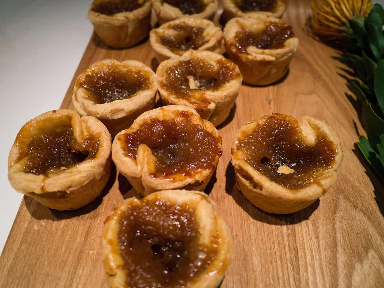 a table of butter tarts - Canada's National Dish