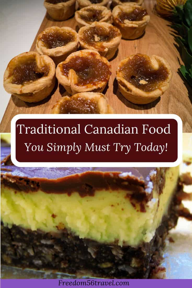 Pinterest image of Traditional Canadian Food