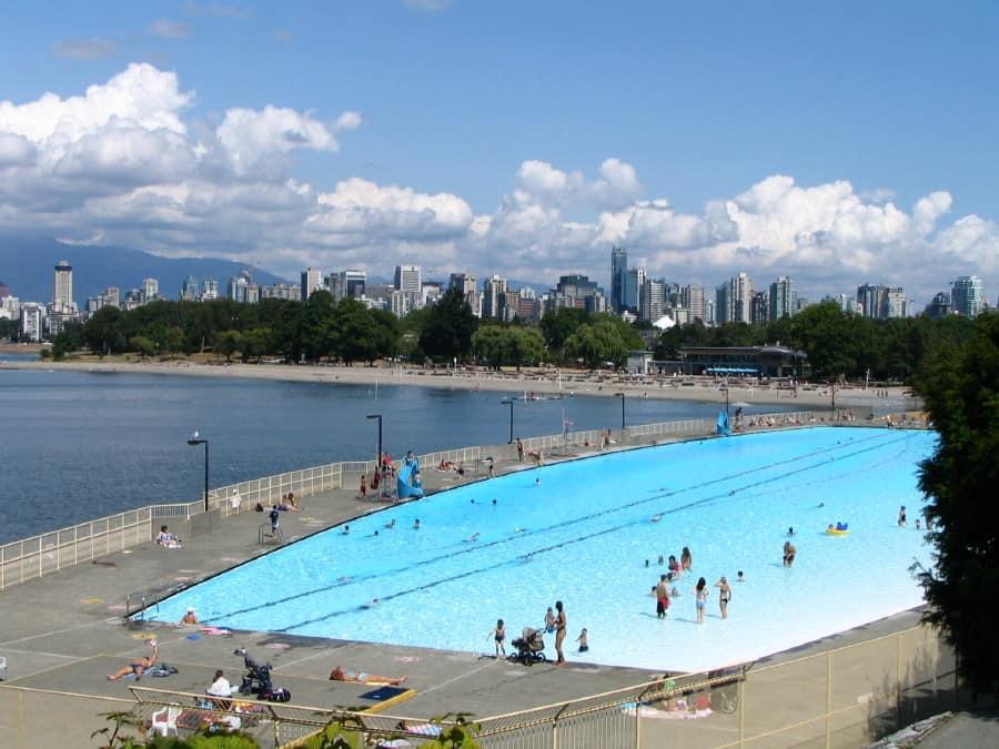 Kits Pool in beautiful Vancouver