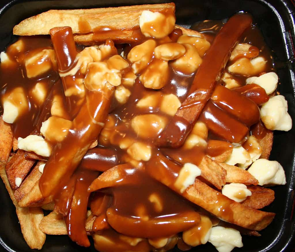 Poutine, a dish of french fries with cheese curds and gravy, vying for Canada's National Dish