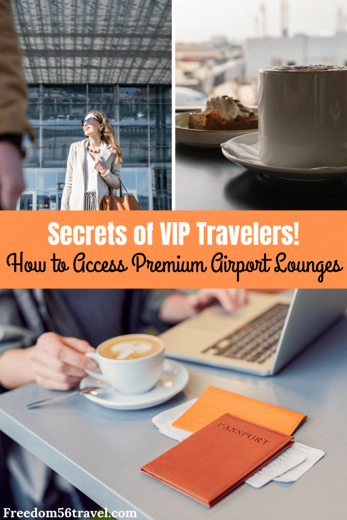 Pinterest image for premium airport lounges