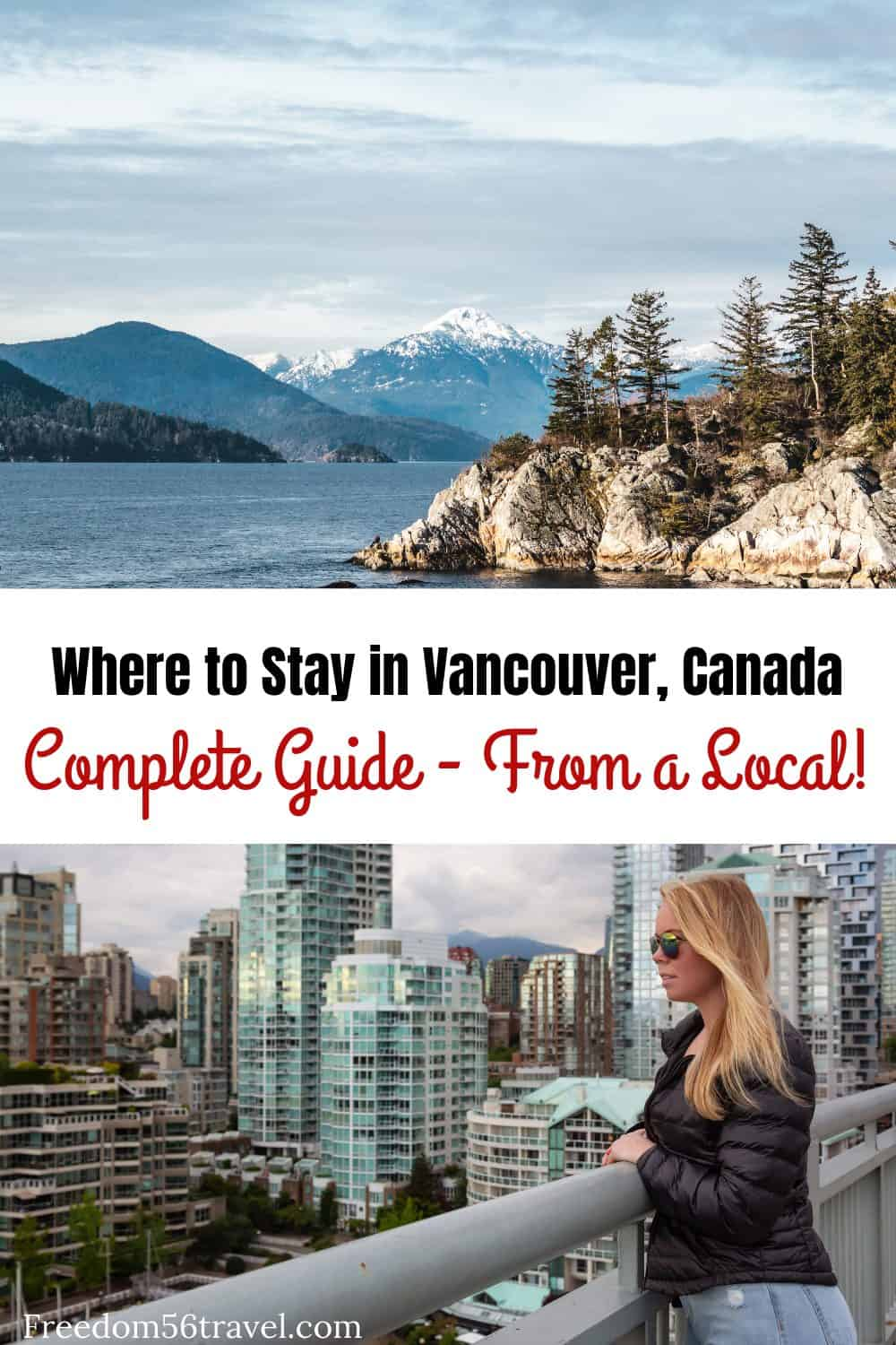 Pinterest image for where to stay in Vancouver