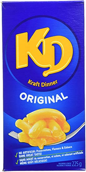 Kraft Dinner - also know as Kraft Macaroni and Cheese