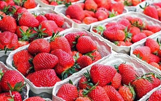 Strawberries from Granville Island Public Market