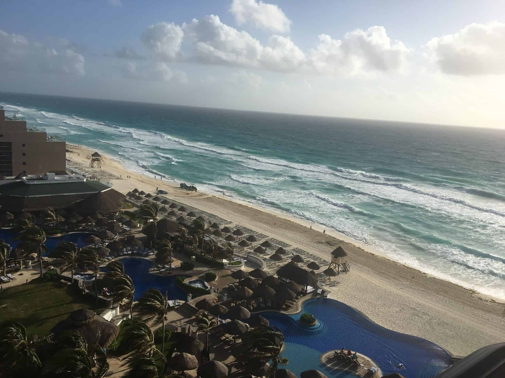The view from our balcony in Cancun - this is definitely where to stay in Cancun