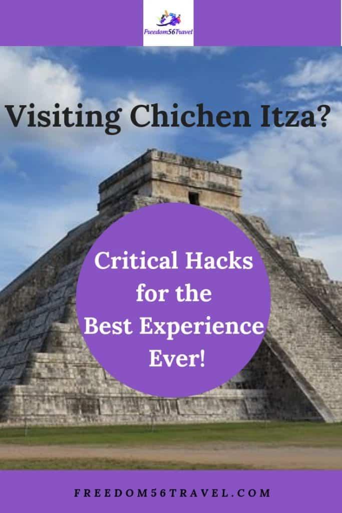 Pinterest Image of pyramid at Chichen Itza