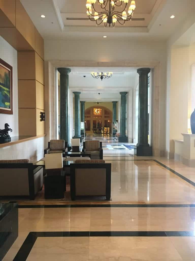 Lobby area of JW Marriott Cancun Resort & Spa