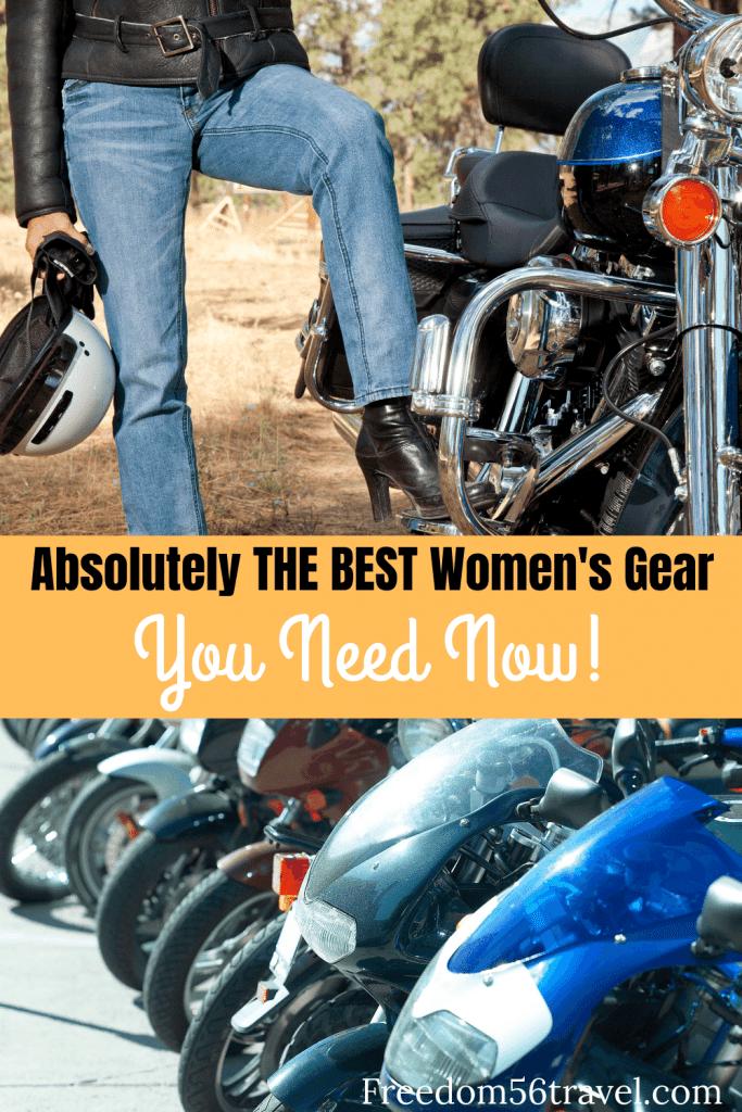 The Best Women's Motorcycling Gear Pinterest Image