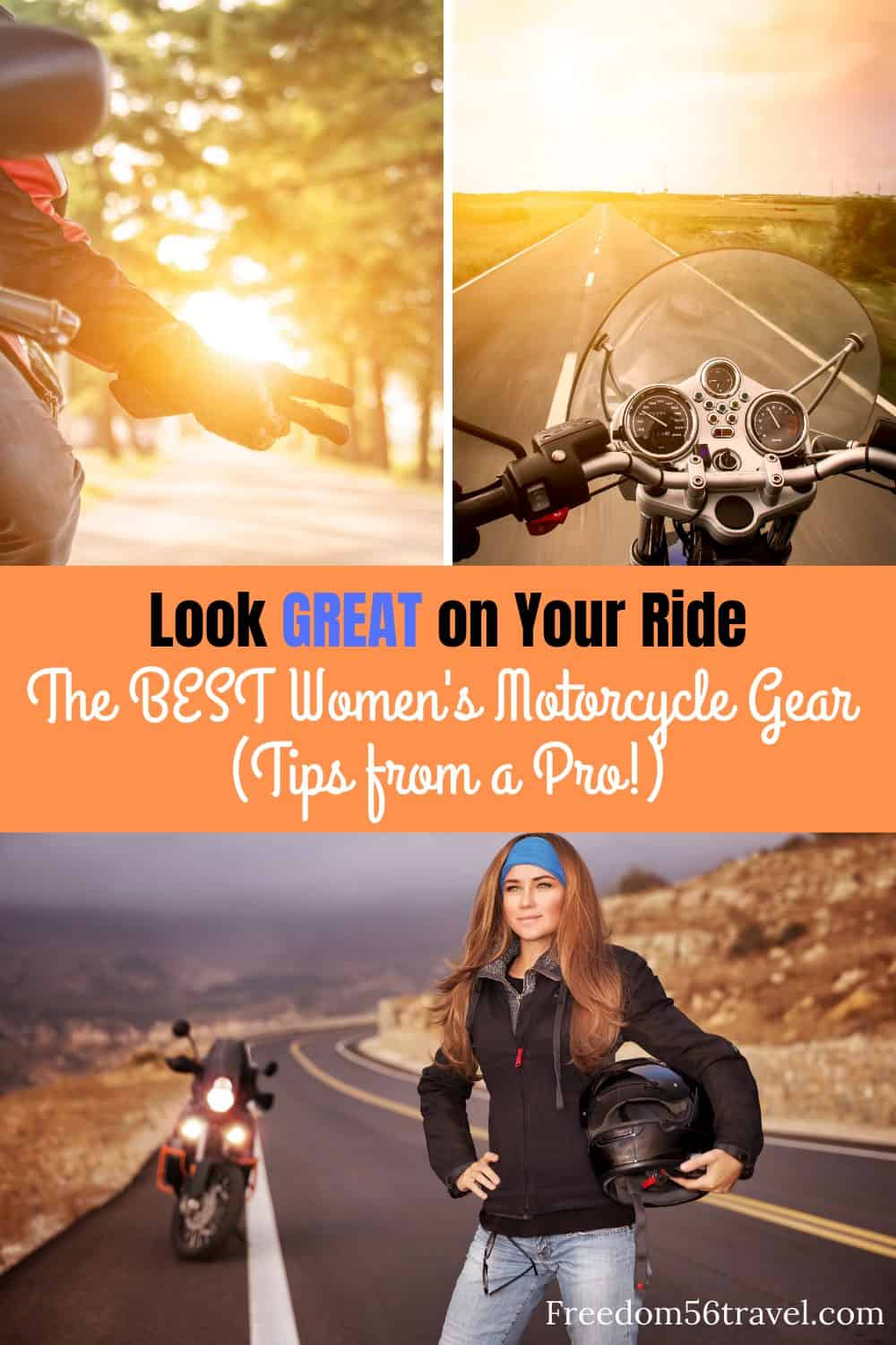 Pinterest image for women's motorcycle gear