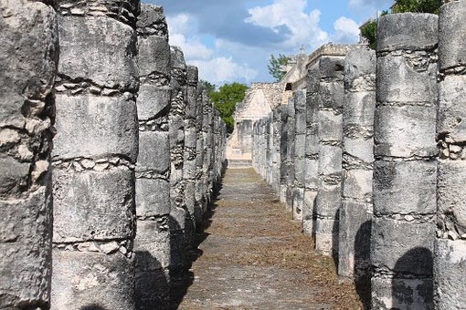 Group of 1000 columns, seen on tour of Chichen Itza