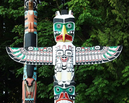 Totem poles in Stanley Park - part of your 4 day Vancouver itinerary