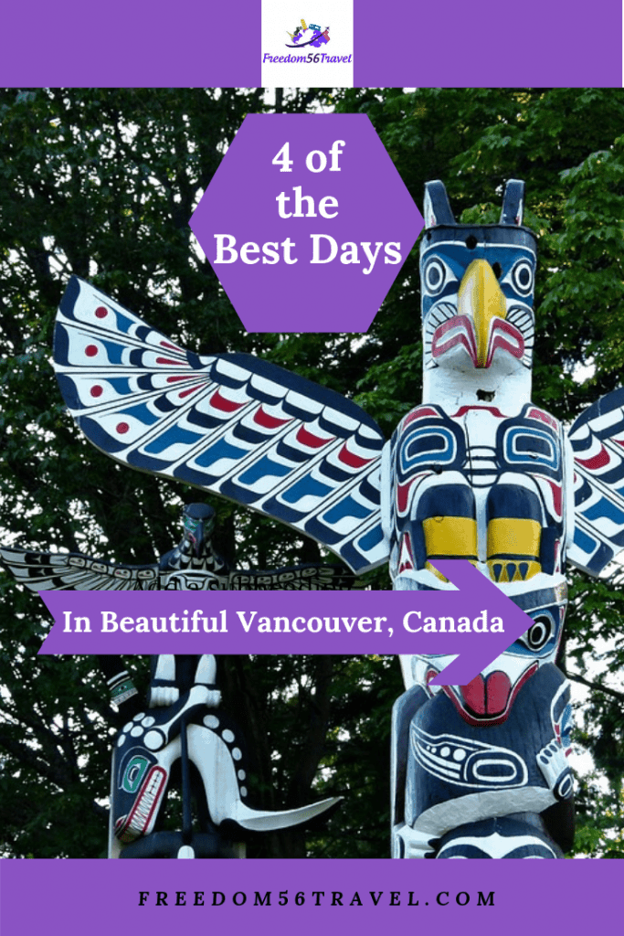 Pinterest image of Totem Poles in Vancouver's Stanley Park