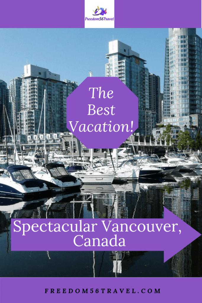 Pinterest image of Vancouver's False Creek Marina