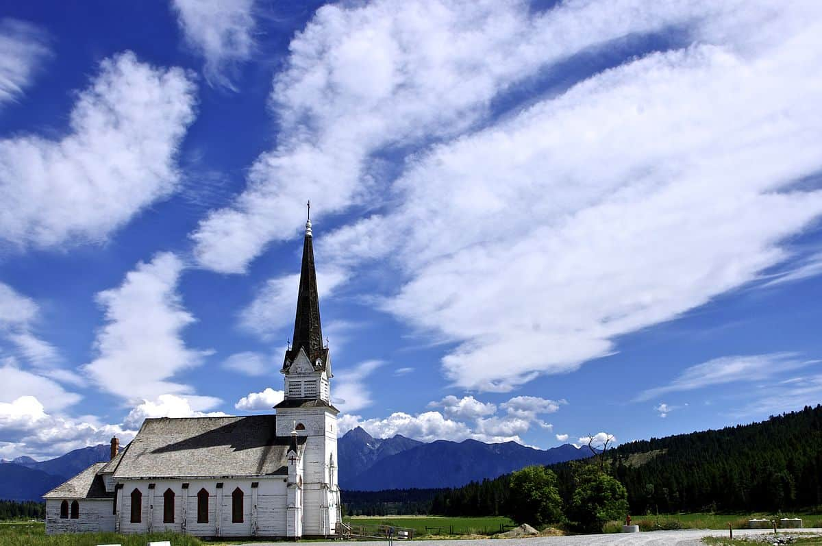 St. Eugene's Church in Cranbrook, British Columbia - a must-see stop on a Vancouver to Banff road trip