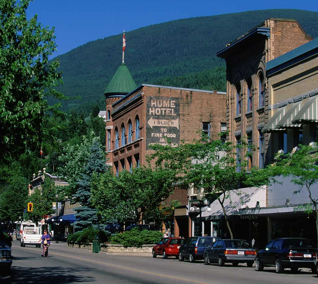 A view of downtown Nelson, British Columbia. A pretty town on a Vancouver to Banff drive.