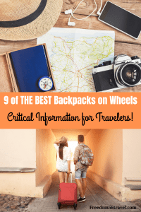 Pinterest image for backpack on wheels