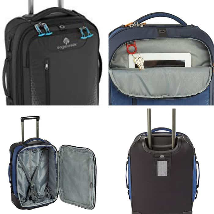 photo collage of best backpack with wheels