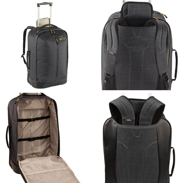 Eagle Creek National Geographic Photo collage of best wheeled backpacks