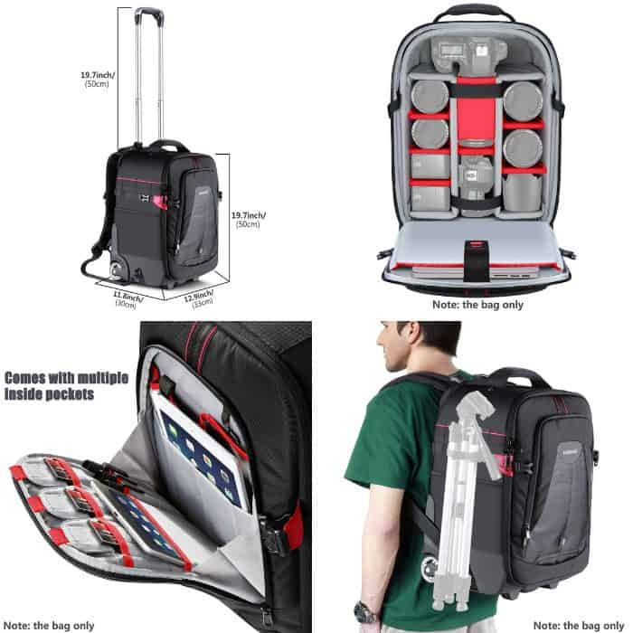 Photo collage of Backpack for photographers