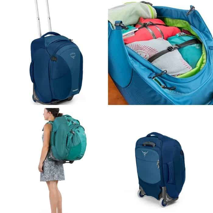 photo collage of best laptop wheeled bag