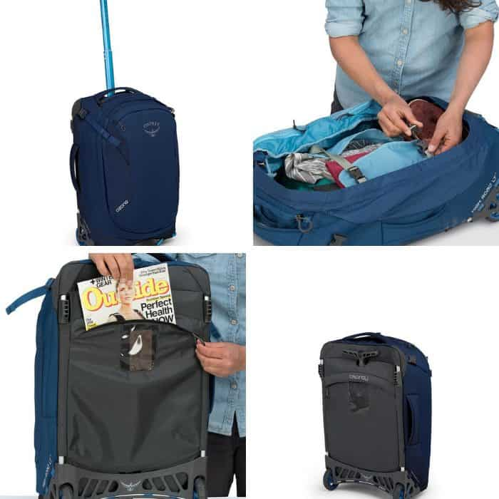 photo collage of best carry on luggage wheeled
