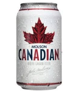 a can of Molson Canadian beer, Canadian goodies
