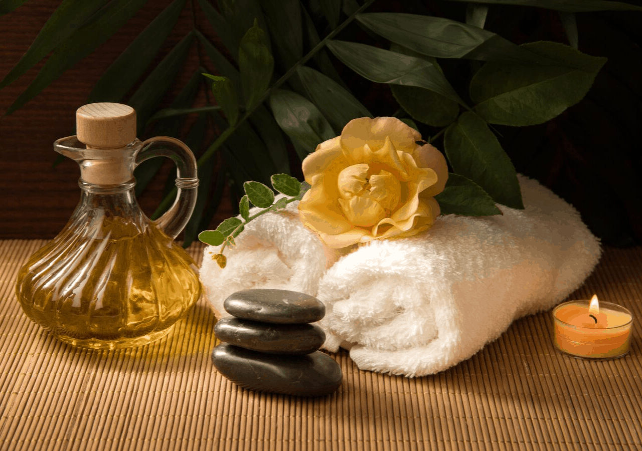 Items needed for a spa treatment at one of the best resorts on Vancouver Island
