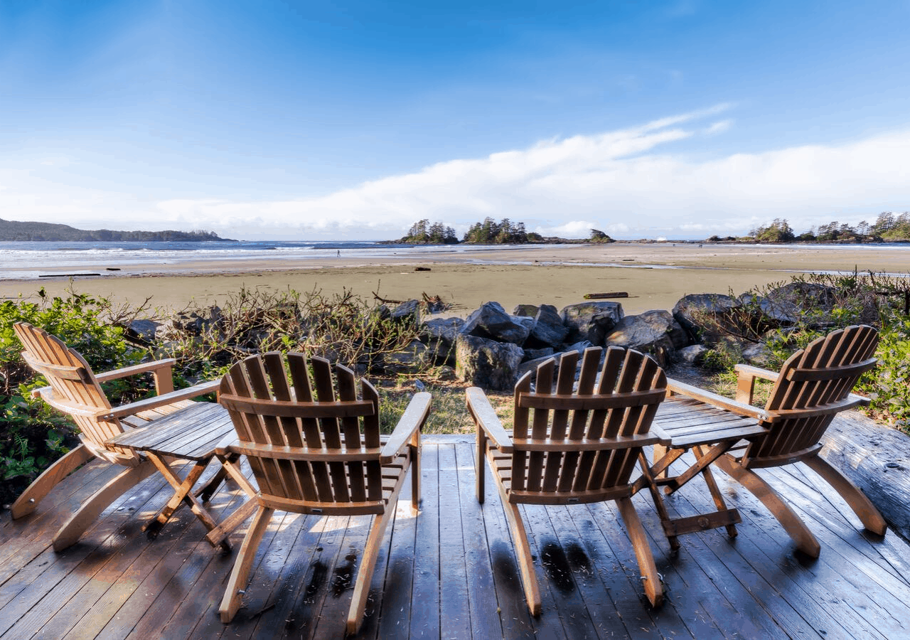 a beautiful Ucluelet beach view, one of the romantic getaways on Vancouver Island