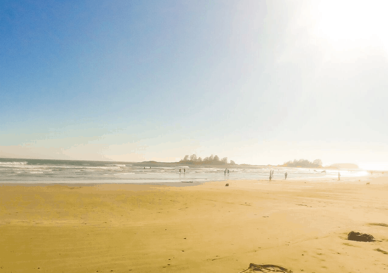 Chesterman Beach in Tofino, where you can get secluded cabin rentals in BC