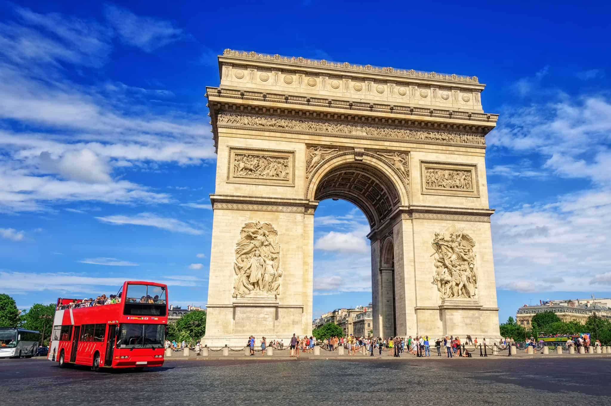 The Arc de Triomphe in Paris, part of 4 days 3 nights Paris