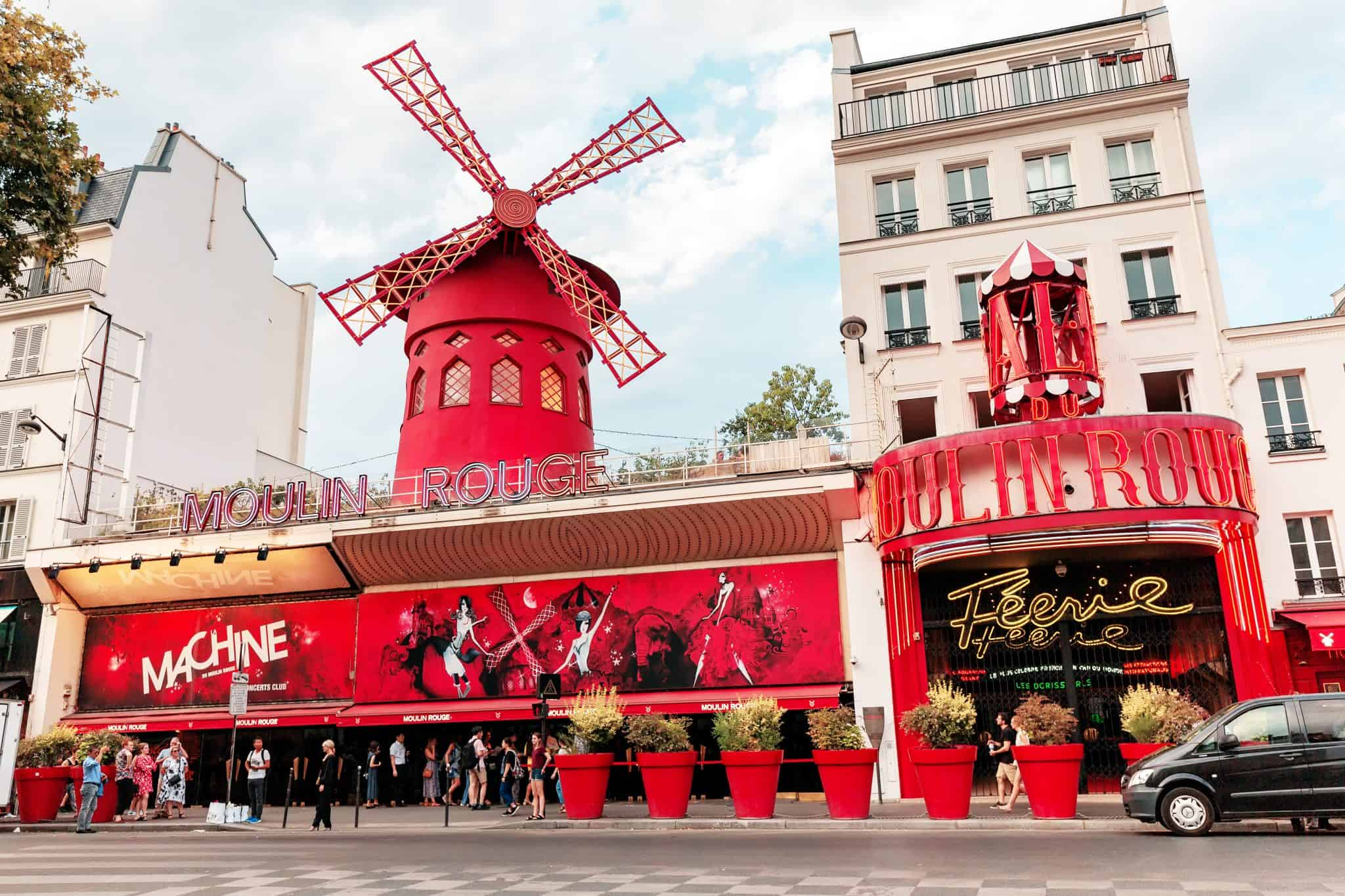 Moulin Rouge Exterior - 4 days in Paris what to do
