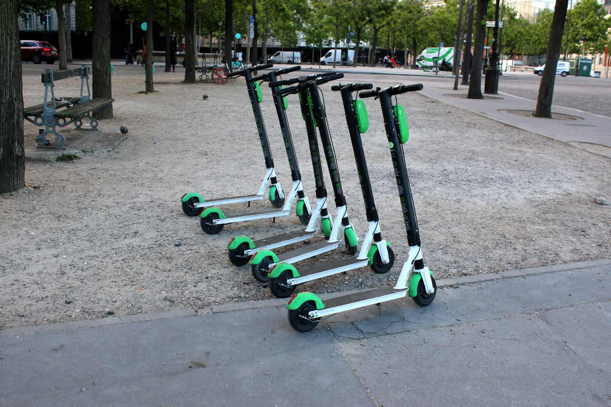 Lime Micro-Mobility scooters in Paris