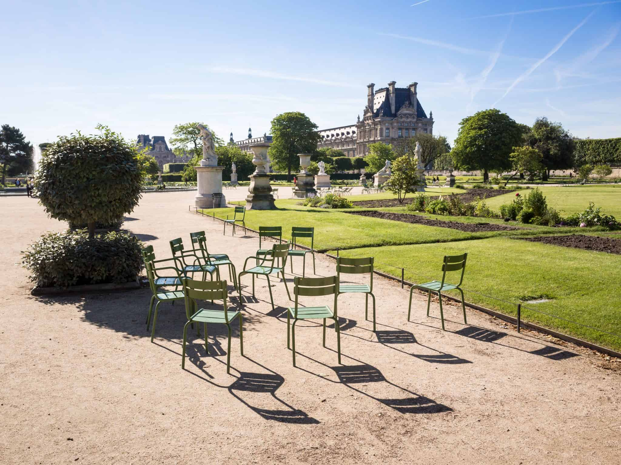 Comfortable Chairs in the Tuileries Gardens - 4 days Paris