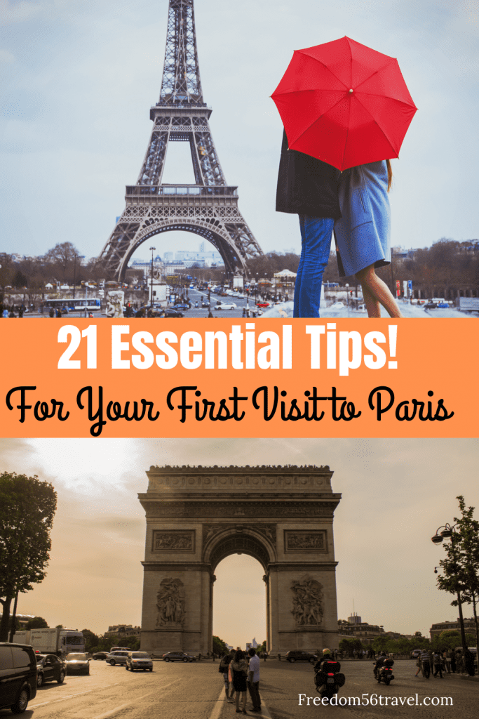 Pinterest image for article on Essential Tips for a First Visit to Paris